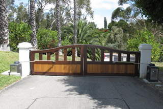 Wood Residential Sliding Gate #1a